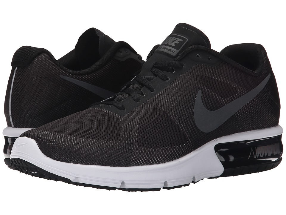 Nike - Air Max Sequent (Black/Wolf Grey/White/Metallic Hematite) Men's Running Shoes