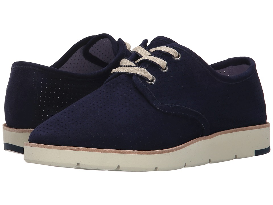 Johnston & Murphy - Phyllis (Navy Kid Suede) Women's Lace up casual Shoes