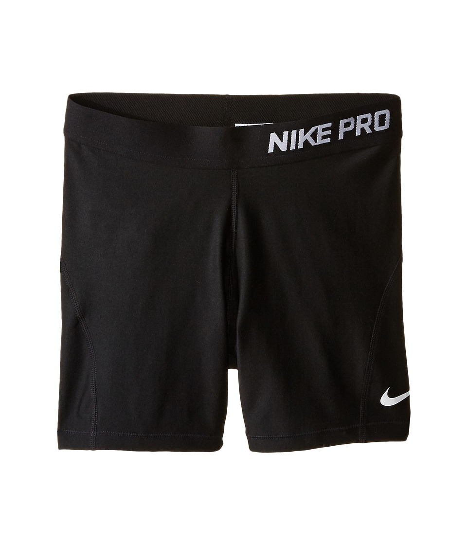 Nike Kids - Pro 3 Cool Training Short (Little Kids/Big Kids) (Black/Black/White) Girl's Shorts