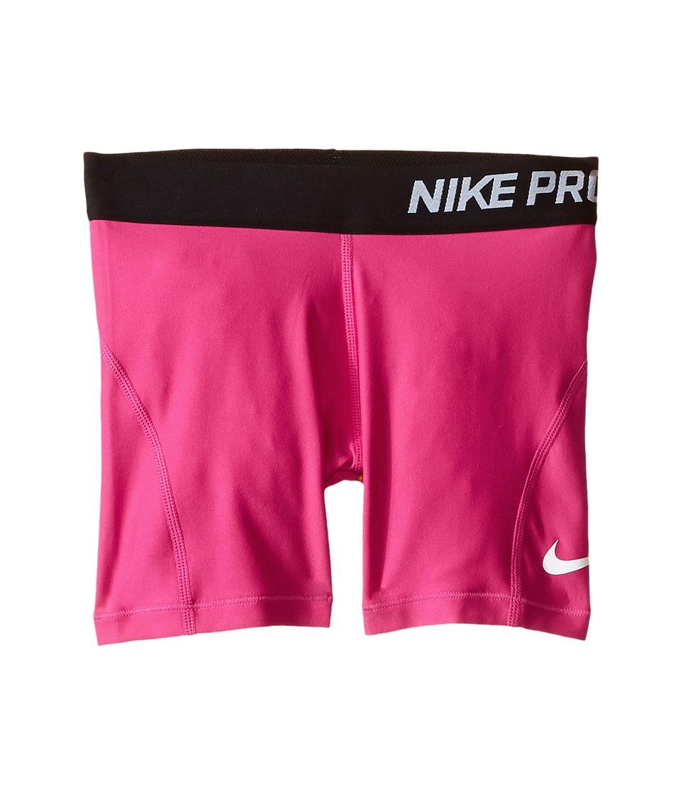 Nike Kids - Pro 3 Cool Training Short (Little Kids/Big Kids) (Vivid Pink/Black/White) Girl's Shorts