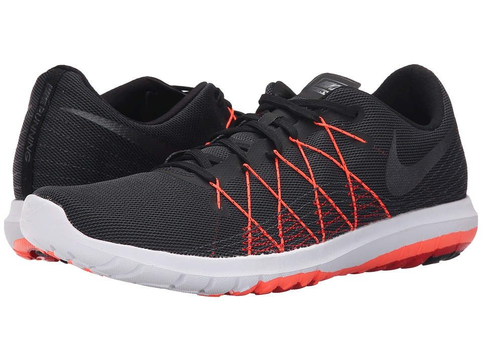 Nike - Flex Fury 2 (Black/University Red/Total Crimson/Metallic Hematite) Men's Running Shoes
