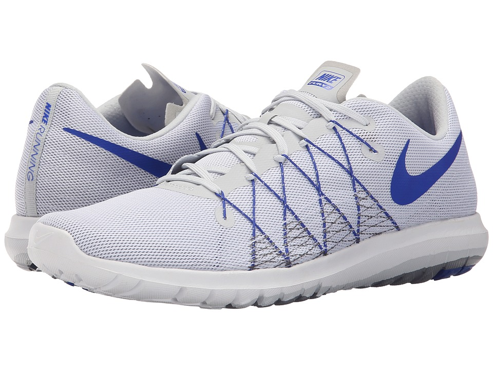 Nike - Flex Fury 2 (Pure Platinum/Cool Grey/White/Racer Blue) Men's Running Shoes