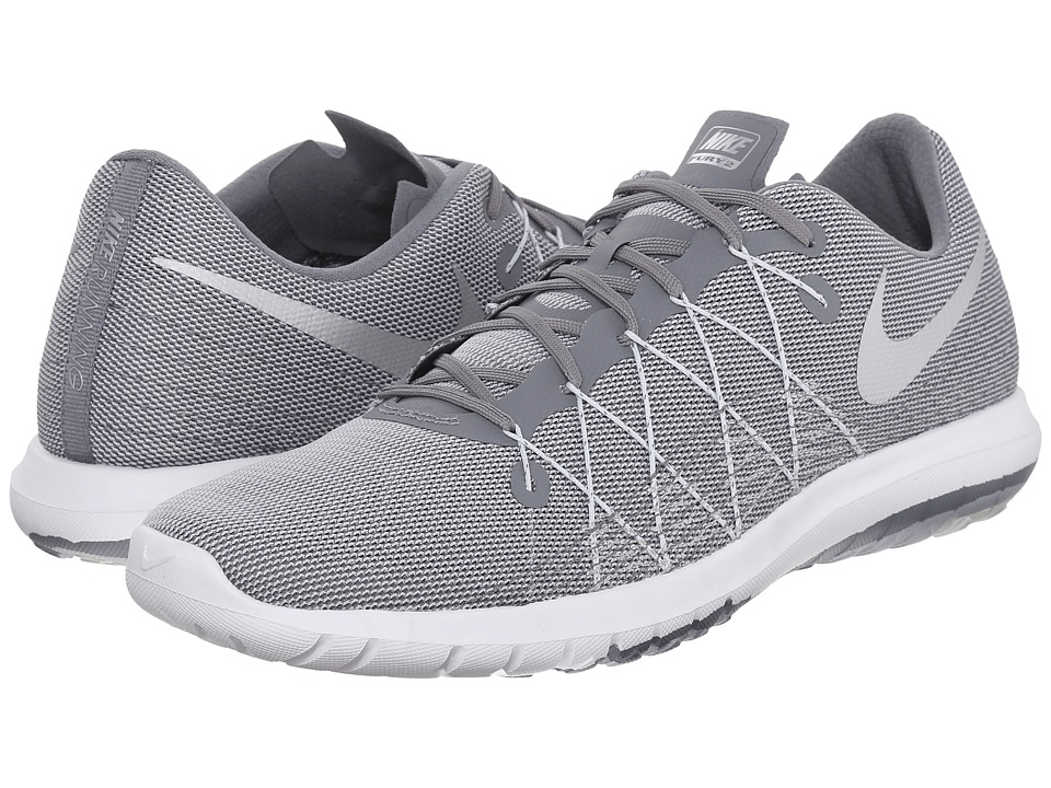 Nike - Flex Fury 2 (Cool Grey/Pure Platinum/Wolf Grey/Metallic Silver) Men's Running Shoes