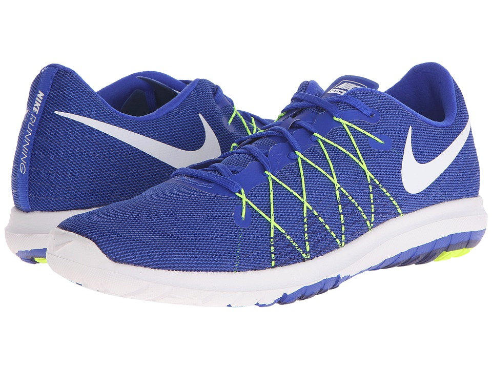 Nike - Flex Fury 2 (Racer Blue/Volt/Deep Royal Blue/White) Men's Running Shoes