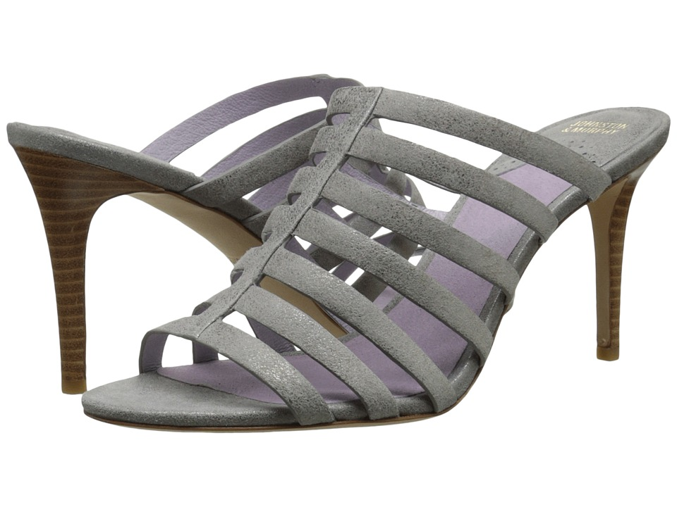 Johnston & Murphy - Sally (Silver Metallic Soft Italian Suede) Women's Slide Shoes