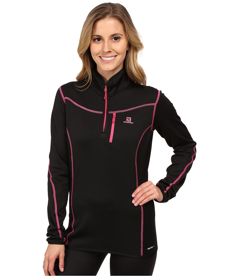 Salomon - Atlantis Half Zip (Black) Women's Clothing
