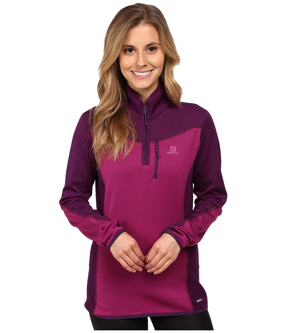 Salomon - Atlantis Half Zip (Aster Purple/Cosmic Purple) Women's Clothing
