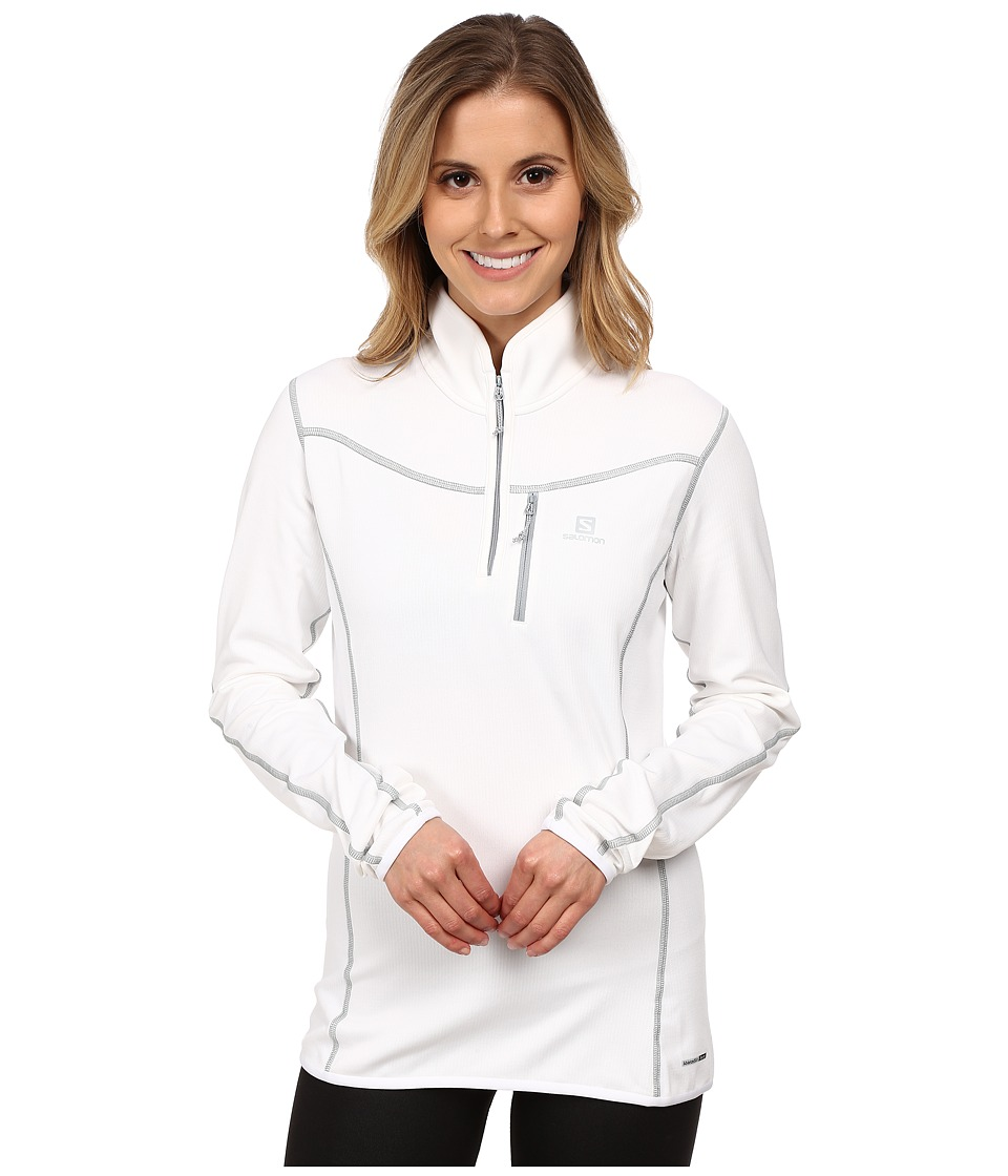 Salomon - Atlantis Half Zip (White) Women's Clothing