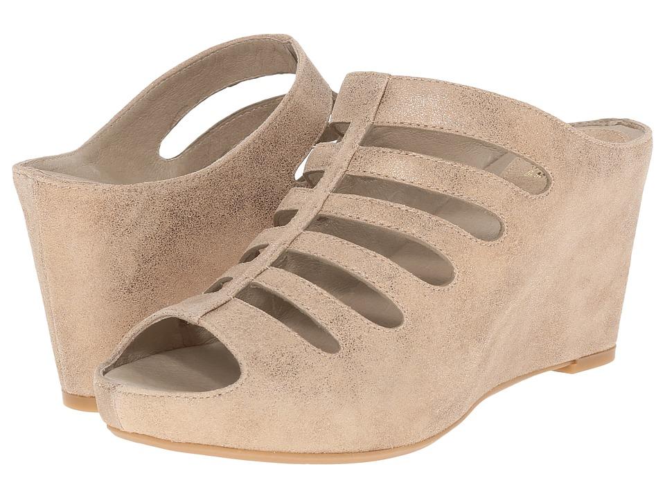Johnston & Murphy - Tess (Gold Metallic Italian Calfskin) Women's Shoes