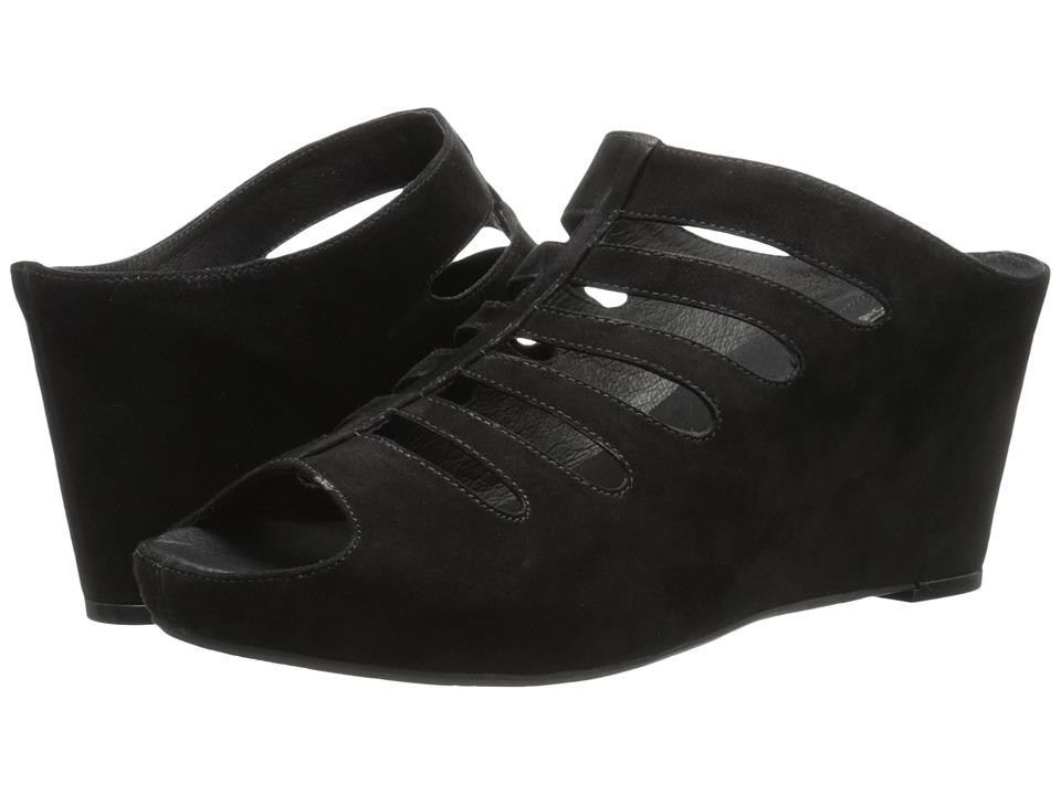 Johnston & Murphy - Tess (Black Italian Kid Suede) Women's Shoes
