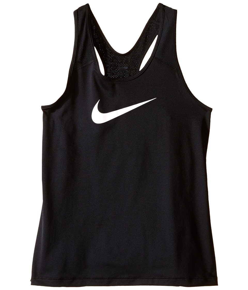Nike Kids - Pro Cool Training Tank Top (Little Kids/Big Kids) (Black/White) Girl's Sleeveless
