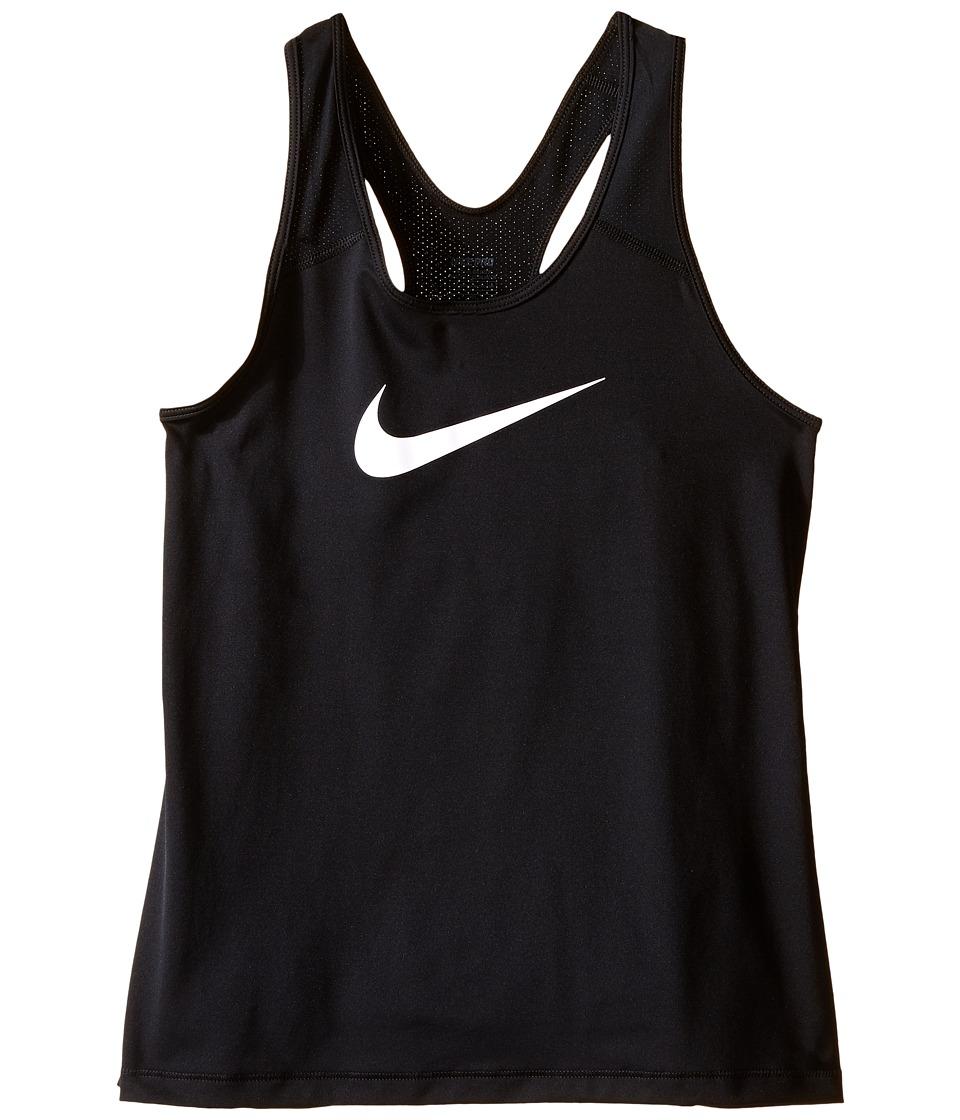 Nike Kids - Pro Cool Training Tank Top (Little Kids/Big Kids) (Black/White) Girl's Sleeveless