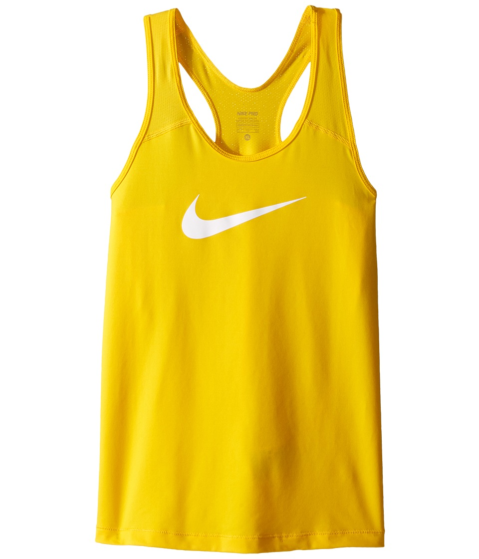 Nike Kids - Pro Cool Training Tank Top (Little Kids/Big Kids) (Varsity Maize/White) Girl's Sleeveless