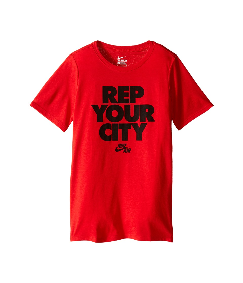 Nike Kids - Rep Your City Tee (Little Kids/Big Kids) (University Red/Black) Boy's T Shirt