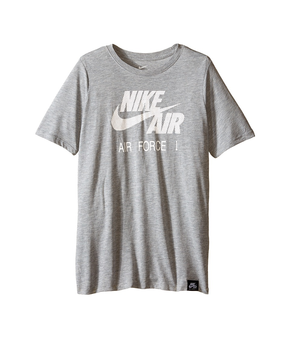 Nike Kids - Air Force 1 Logo Tee (Little Kids/Big Kids) (Dark Grey Heather) Boy's T Shirt