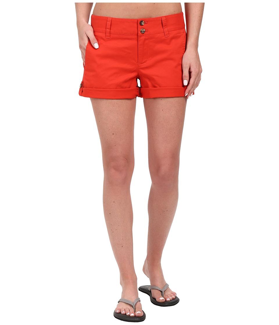 Mountain Khakis - Sadie Chino Shorts (Tomato) Women's Shorts