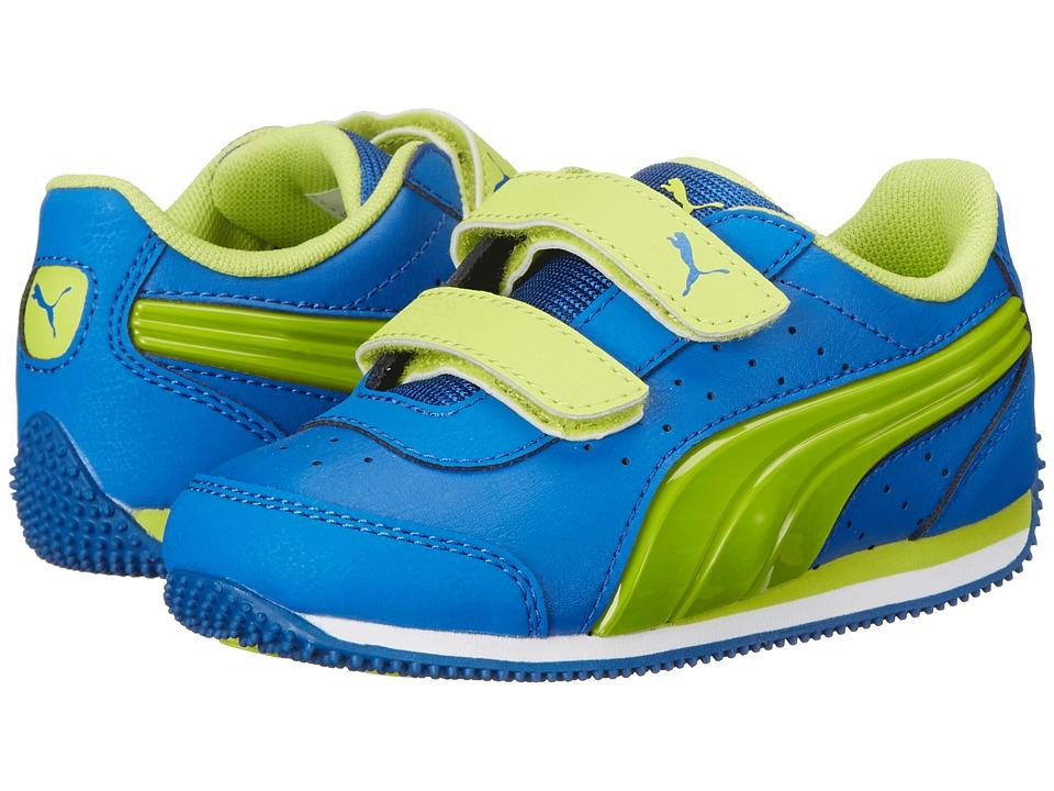 Puma Kids Speed Light Up V (Toddler/Little Kid/Big Kid) (Puma Royal/Lime Punch) Boys Shoes