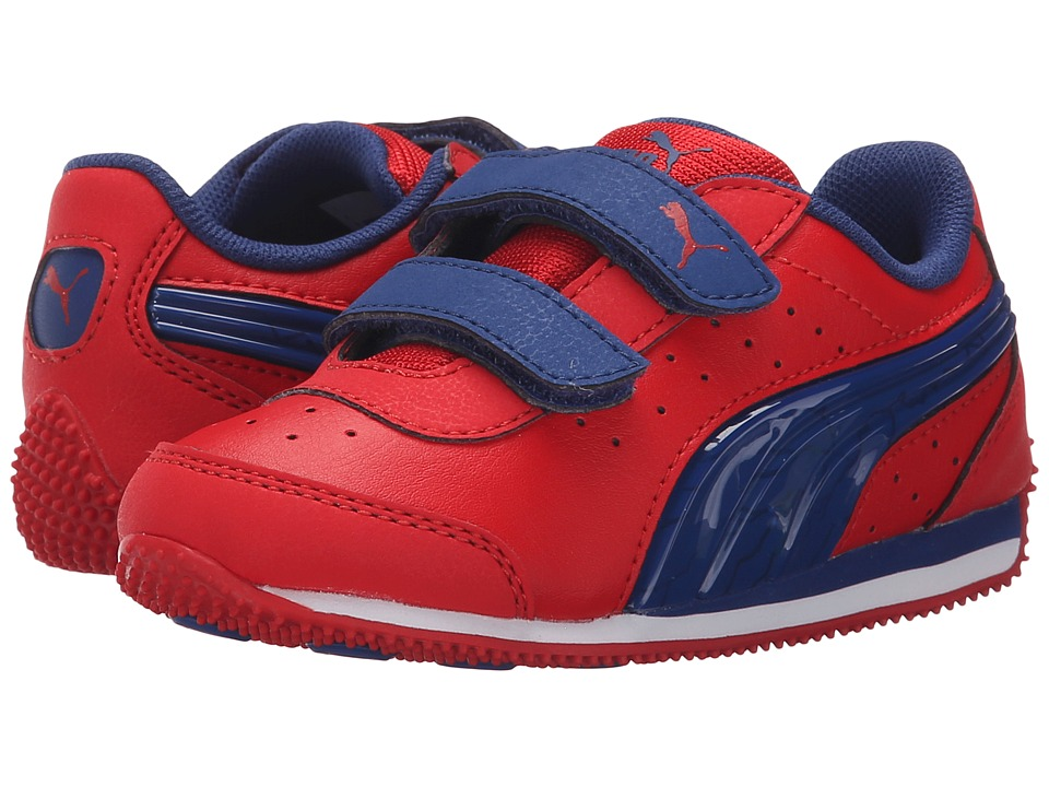 Puma Kids - Speed Light Up V (Toddler/Little Kid/Big Kid) (High Risk Red/Limoges) Boys Shoes