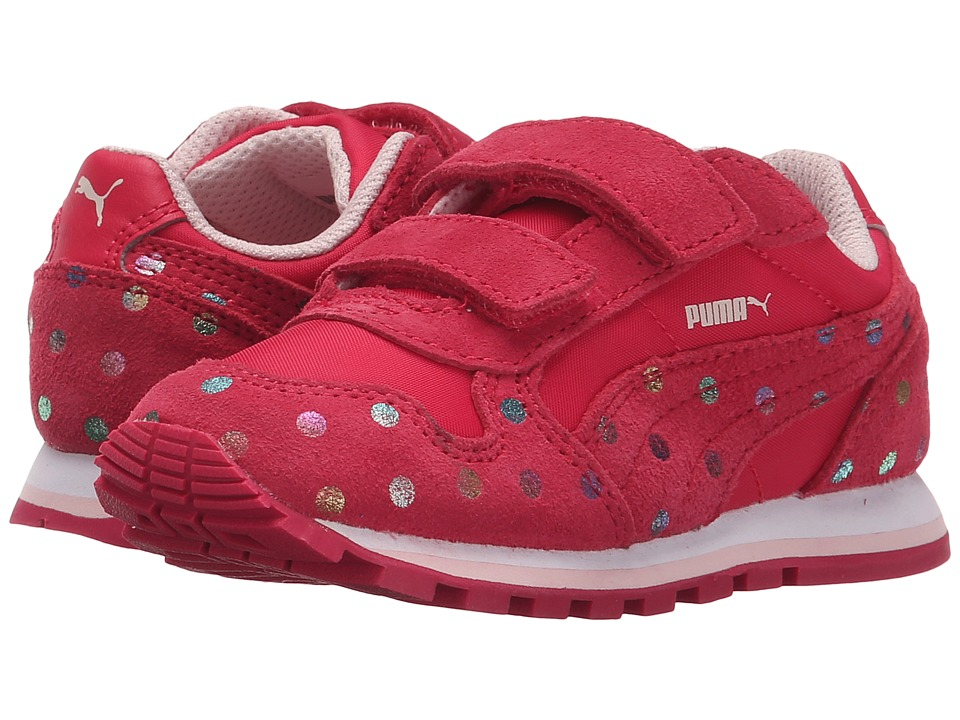 Puma Kids - ST Runner Dotfetti V (Toddler/Little Kid/Big Kid) (Rose Red/Rose Red) Girls Shoes