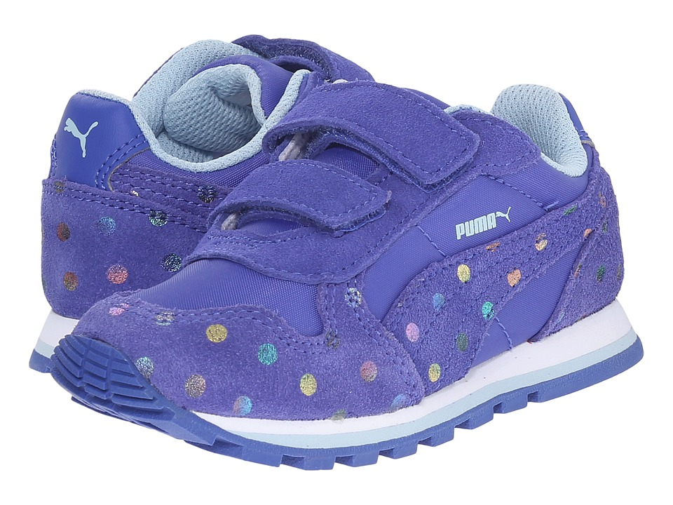 Puma Kids - ST Runner Dotfetti V (Toddler/Little Kid/Big Kid) (Dazzling Blue/Dazzling Blue) Girls Shoes