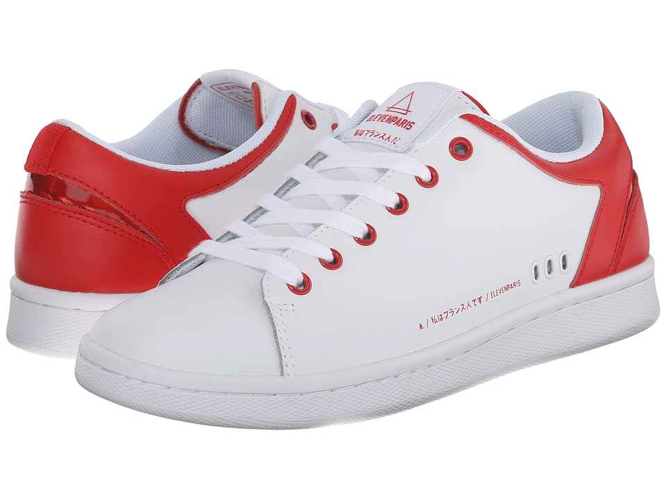 Eleven Paris - 11Prs-Cny (White/Red) Women's Lace up casual Shoes