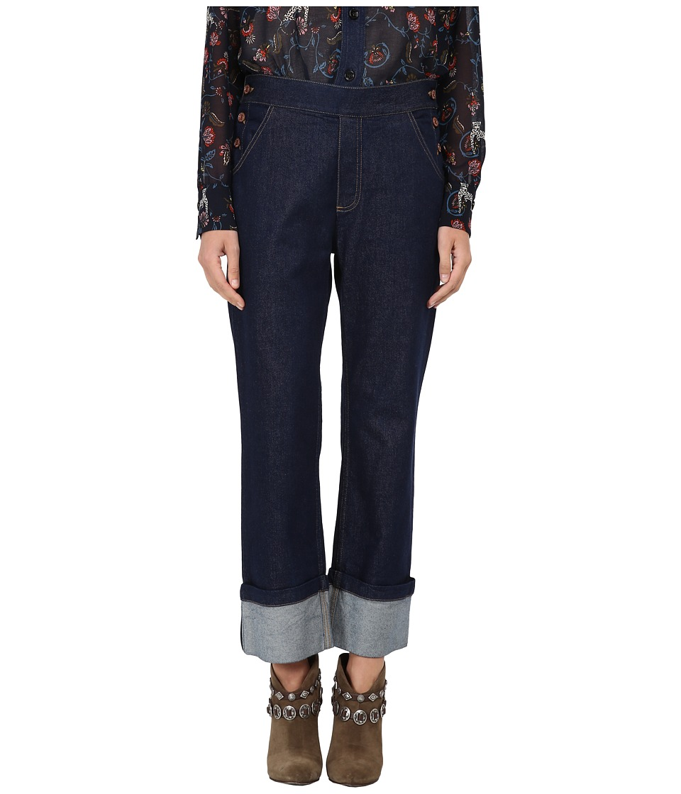 See by Chloe - Denim Crop Trousers (Indigo) Women
