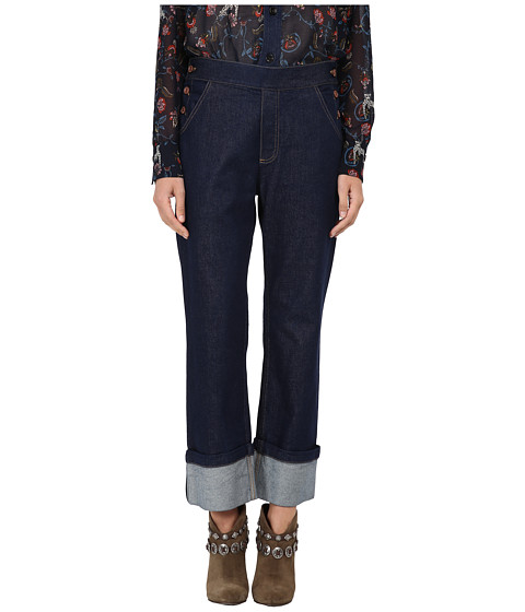 See by Chloe - Denim Crop Trousers (Indigo) Women's Jeans