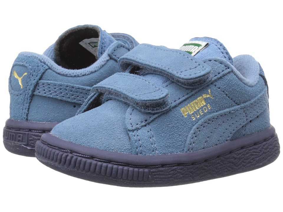 Puma Kids - Suede 2 Straps (Toddler/Little Kid/Big Kid) (Blue Heaven/Blue Heaven) Kids Shoes