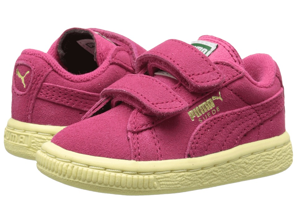 Puma Kids - Suede 2 Straps (Toddler/Little Kid/Big Kid) (Rose Red/Rose Red) Kids Shoes