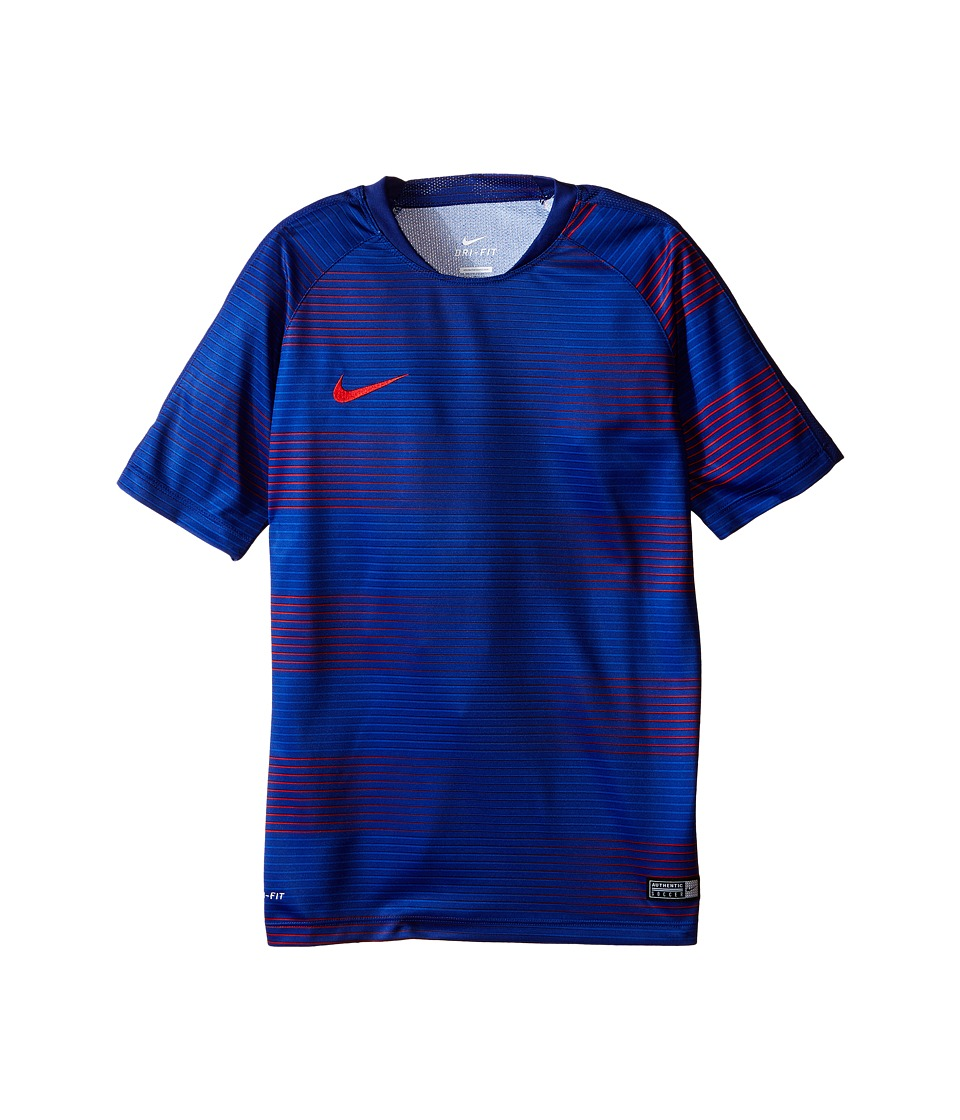 Nike Kids - Flash Graphic Soccer Shirt (Little Kids/Big Kids) (Deep Royal Blue/Deep Royal Blue/University Red) Boy's Clothing