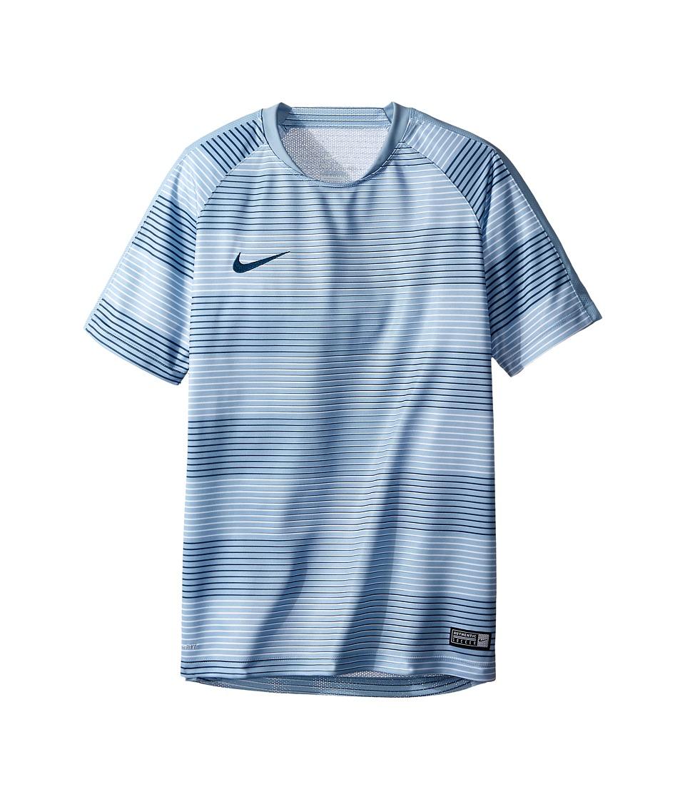 Nike Kids - Flash Graphic Soccer Shirt (Little Kids/Big Kids) (Blue Grey/Blue Grey/Squadron Blue) Boy's Clothing