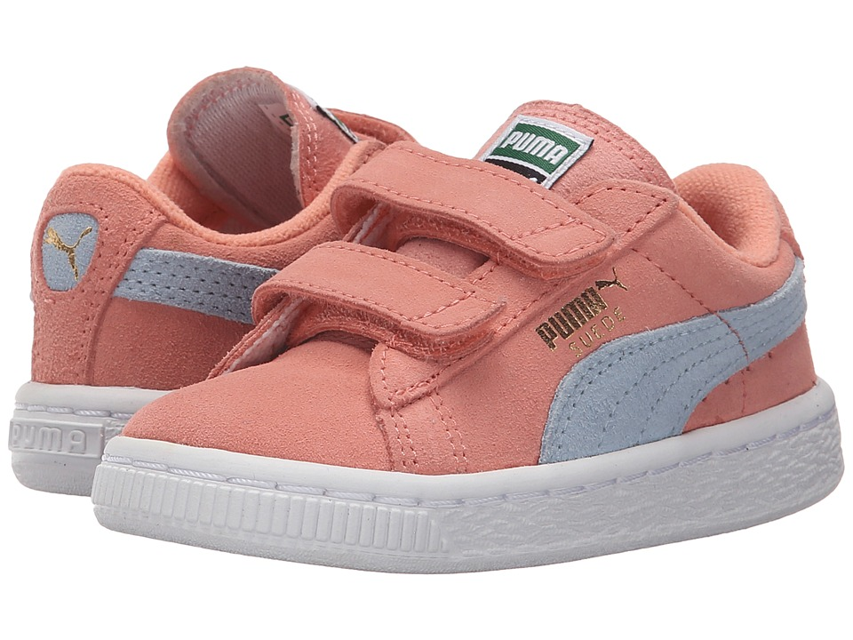 Puma Kids - Suede 2 Straps (Toddler/Little Kid/Big Kid) (Desert Flower/Cool Blue) Girls Shoes