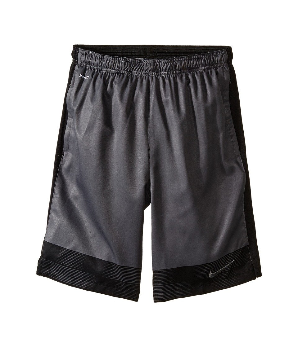 Nike Kids - Strike Graphic Woven Soccer Short (Little Kids/Big Kids) (Dark Grey/Black/Dark Grey) Boy's Shorts