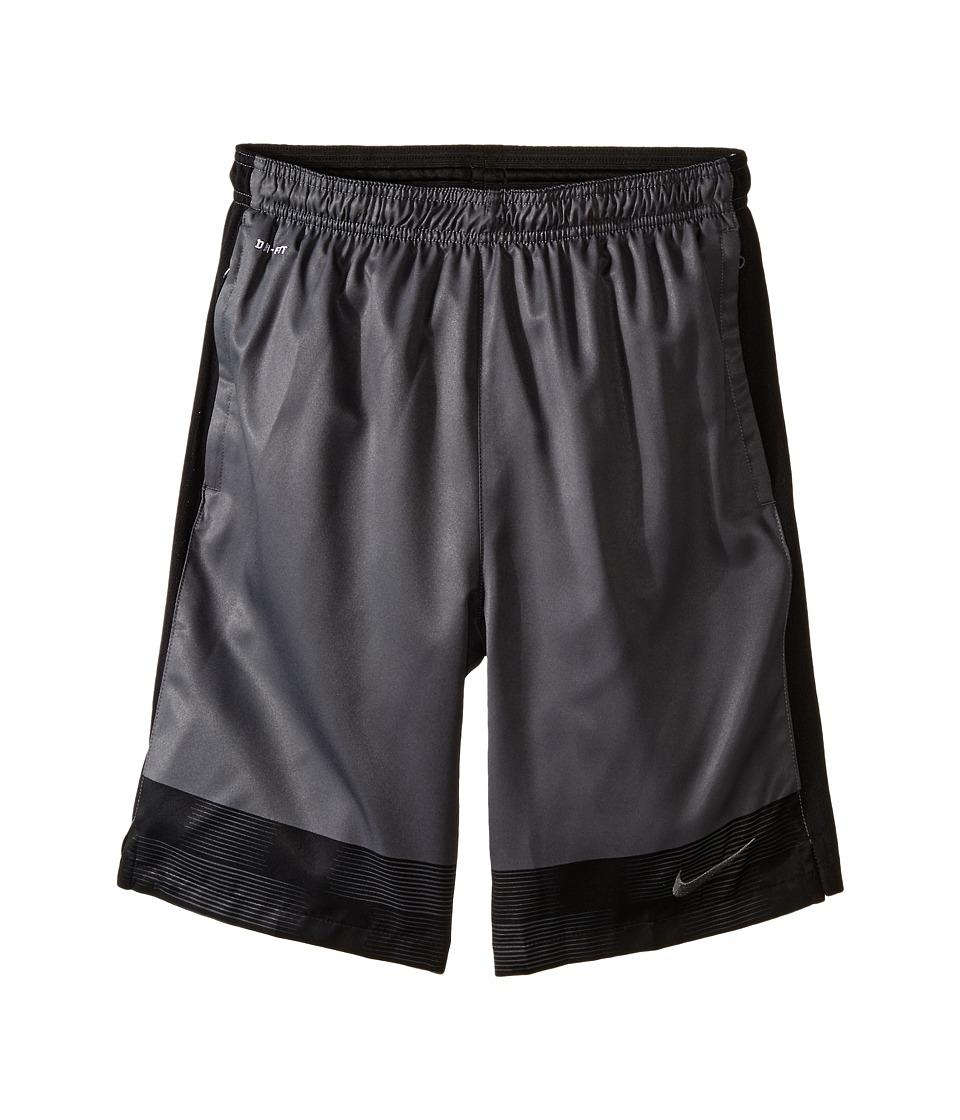 Nike Kids - Strike Graphic Woven Soccer Short (Little Kids/Big Kids) (Dark Grey/Black/Dark Grey) Boy's Shorts