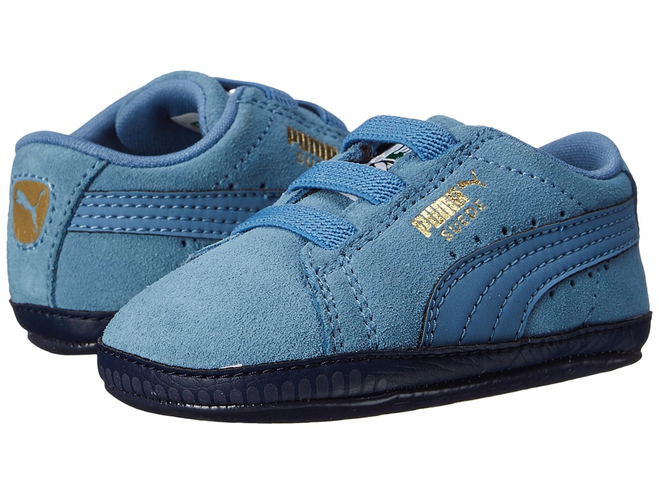 Puma Kids - Suede Crib (Infant/Toddler) (Blue Heaven/Blue Heaven) Boy's Shoes