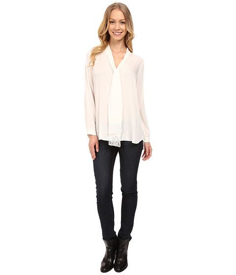 NYDJ - Tie-Front Blouse (Ivory) Women's Blouse