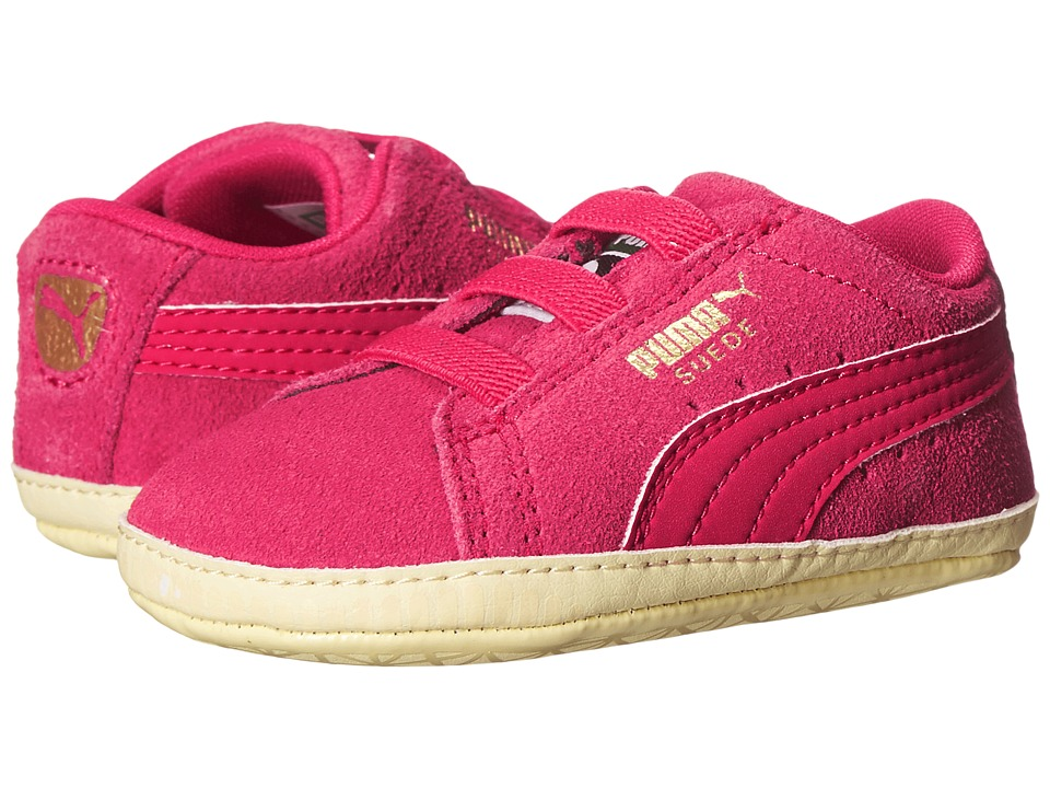 Puma Kids - Suede Crib (Infant/Toddler) (Rose Red/Rose Red) Girl
