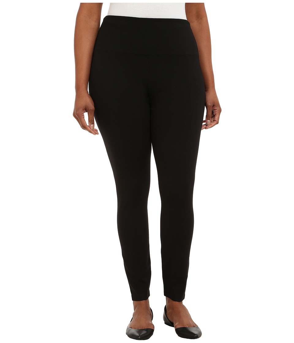 Lysse - Plus Size Center Seam Light Weight Ponte Legging (Black) Women's Casual Pants