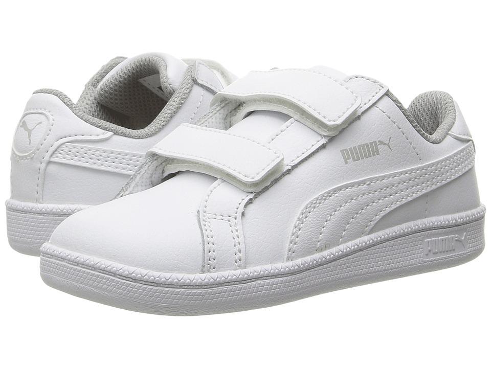 Puma Kids Smash FUN L V (Toddler/Little Kid/Big Kid) (White/White) Boys Shoes