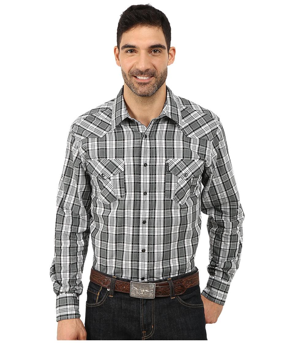 Cinch - Cinch Modern Fit Western Plain (White) Men's Short Sleeve Button Up