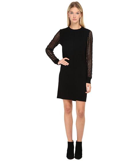 See by Chloe - Knit Sweater Dress (Black) Women's Dress