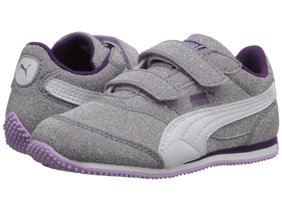 Puma Kids - Steeple Glitz AOG V (Toddler/Little Kid/Big Kid) (Orchid Bloom/White/Imperial Purple) Girls Shoes