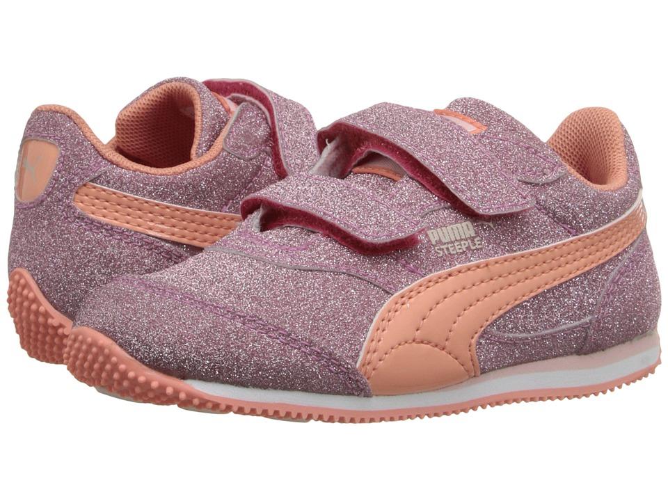 Puma Kids - Steeple Glitz AOG V (Toddler/Little Kid/Big Kid) (Rose Red/Desert Flower/Pink Dogwood) Girls Shoes