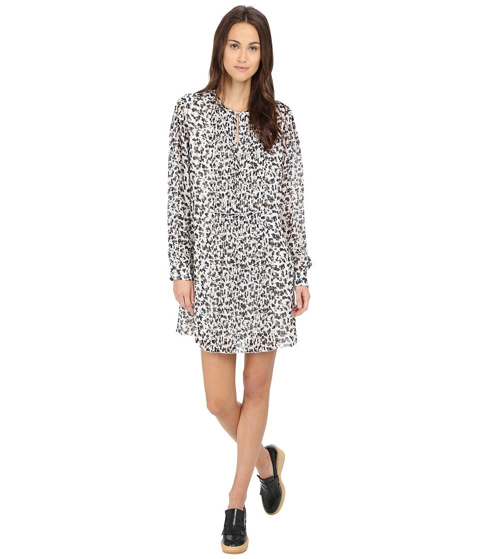 See by Chloe - Pleated Georette Dress (White) Women's Dress