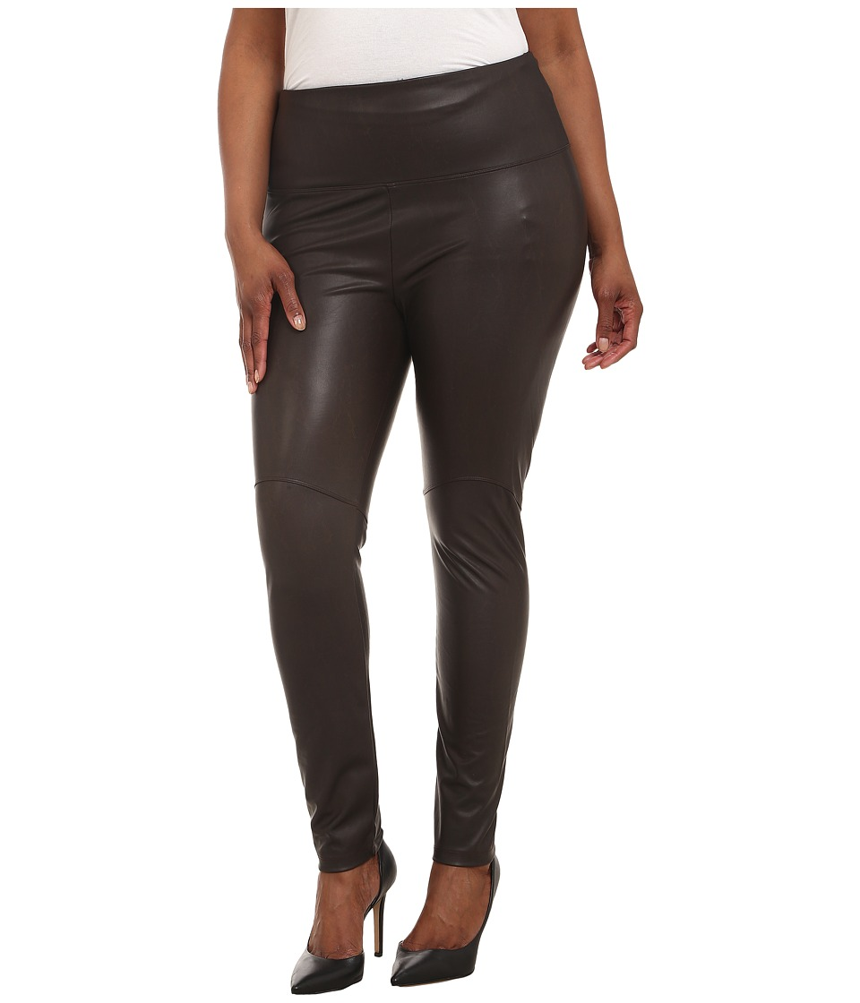 Lysse - Plus Size Vegan Leather Leggings (Espresso) Women's Casual Pants