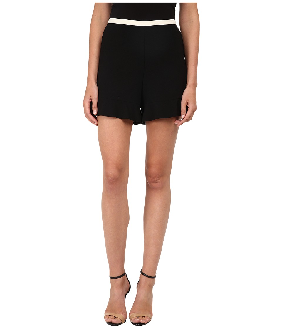 See by Chloe - Crepe Flare Shorts (Black) Women's Shorts