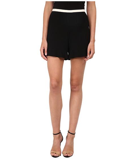 See by Chloe - Crepe Flare Shorts (Black) Women's Shorts