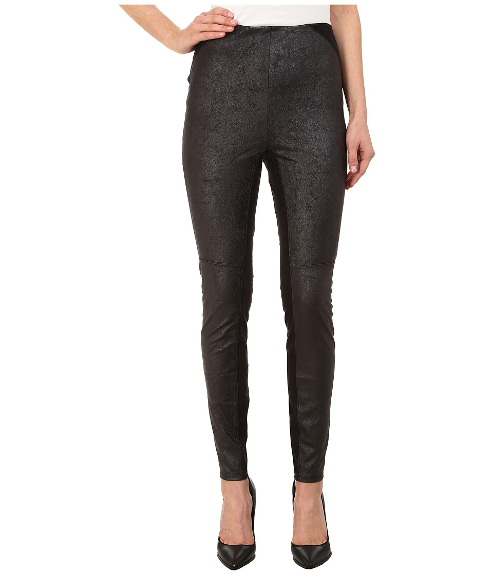 Lysse - Anya Distressed Vegan Leather Leggings (Black) Women's Casual Pants
