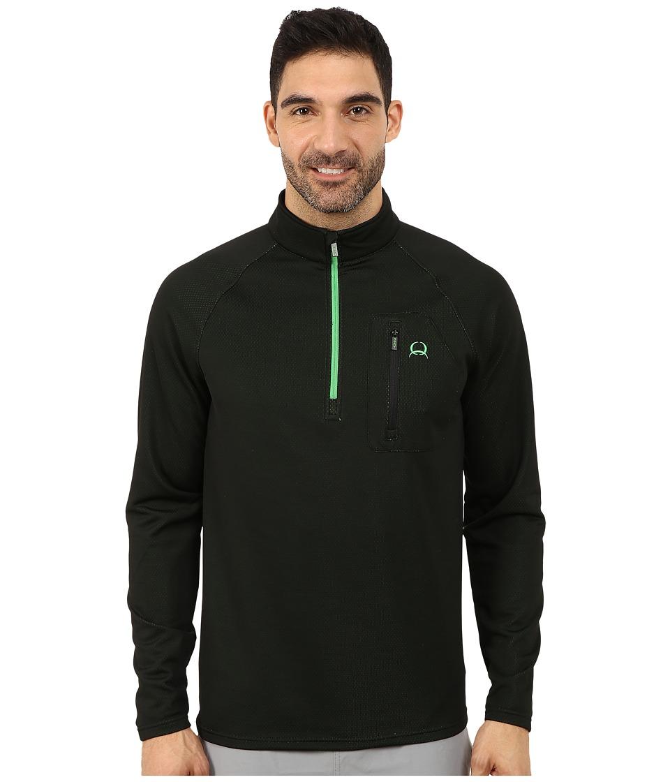 Cinch - Raglan Athletic Technical 1/4 Zip (Black) Men's Clothing