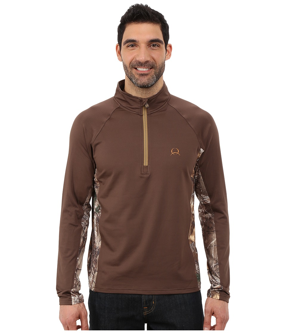 Cinch - Extra Camo Brushed Back Jersey (Brown) Men
